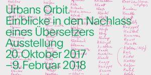 »Urbans Orbit« – Einblicke in den Nachlass eines Übersetzers
