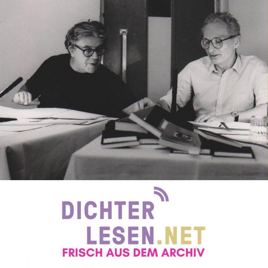 Erich Fried und Walter Höllerer © Renate von Mangoldt, 1986
