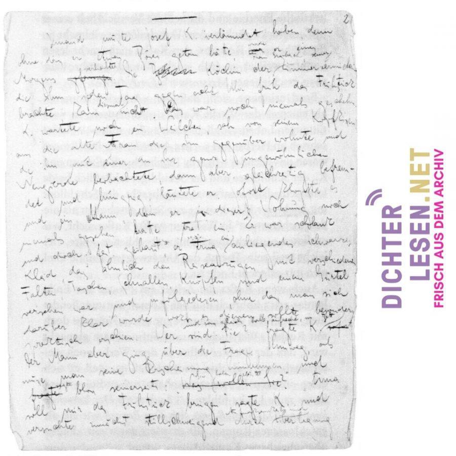 Anfang des Manuskripts zu »Der Process«, 1914/15