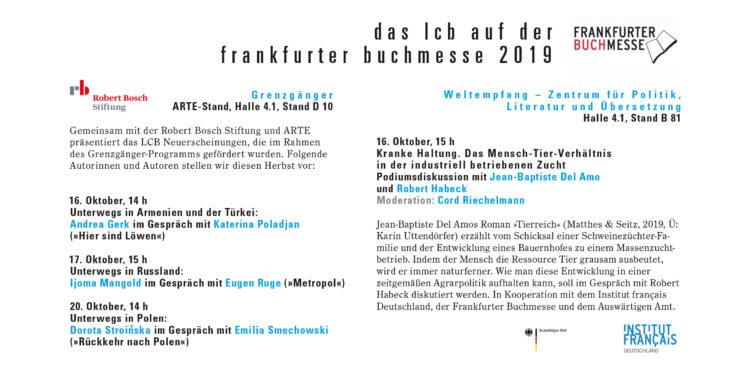 Das LCB auf der Frankfurter Buchmesse 2019