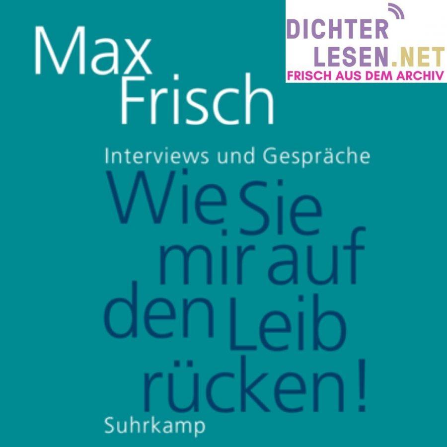 dichterlesen 10 Thomas Strässle über Max Frisch 2017