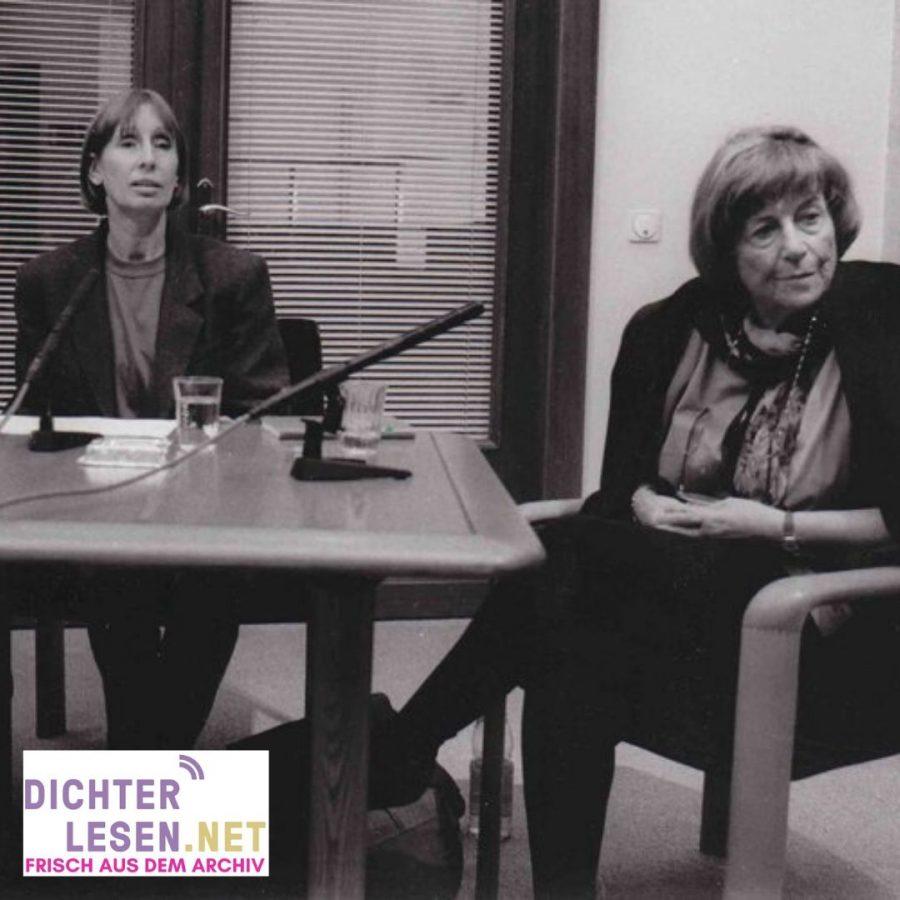 dichterlesen 13 Lesung und Podiumsgespräch mit Margarete Mitscherlich (r.) und Brigitte Burmeister (l.)