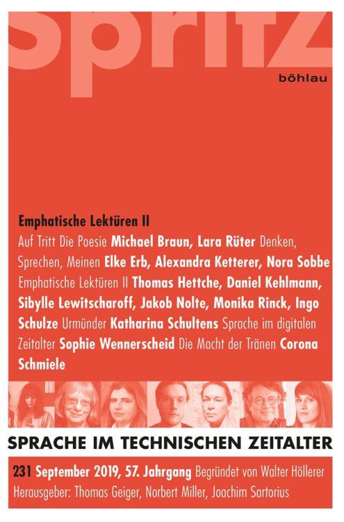 Sprache im technischen Zeitalter, Heft 231