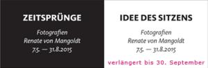 Renate von Mangoldt: »Zeitsprünge – Idee des Sitzens«